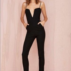 Nasty Gal 'Midnight Run' Cut Out Black Jumpsuit, S